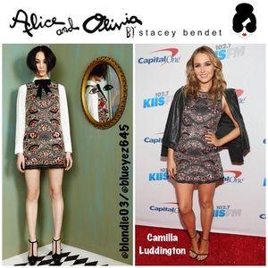 Alice & Olivia Sherley embellished dress 10